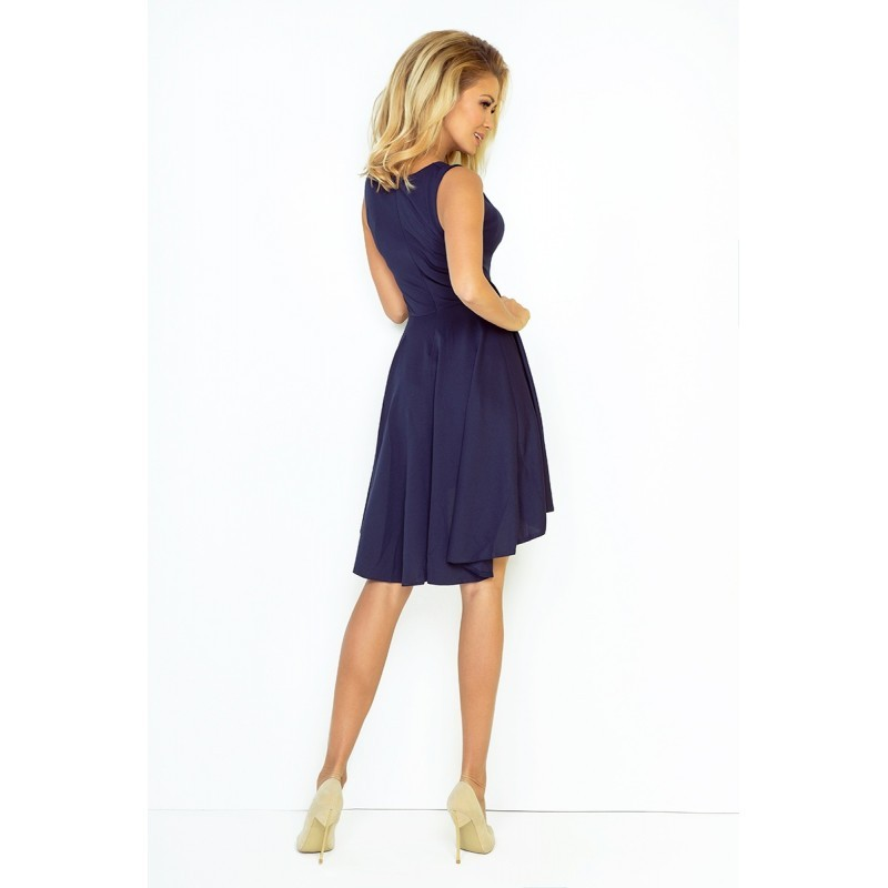 15b59f4abb4 Dámské asymetrické šaty Exclusive bez rukávu tmavě modré