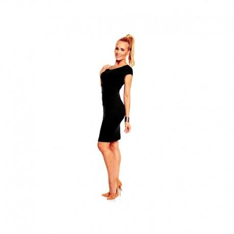 Dámské společenské šaty Brygida s krátkým rukávem černé a49b9508314
