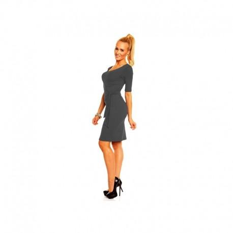 bb57c3ad3130 Dámské společenské šaty s krátkým rukávem Lea pudrové