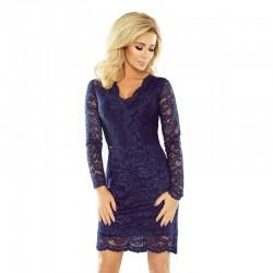Luxusní dámské krajkové šaty Olivia tmavě modré