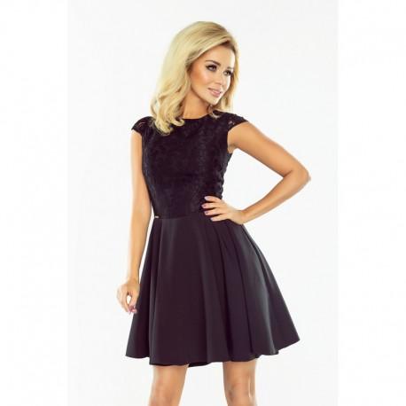 Dámské šaty s krajkou Ellie černé, Velikost M, Barva Černá NUMOCO 157-2