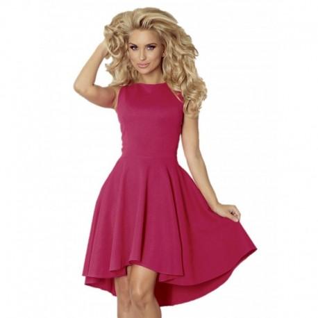 Luxusní dámské společenské a plesové šaty bez rukávu tmavě malinové a12f198f43
