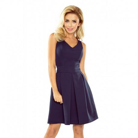 e27d3ca65a1 Elegantní dámské šaty bez rukávu tmavě modré