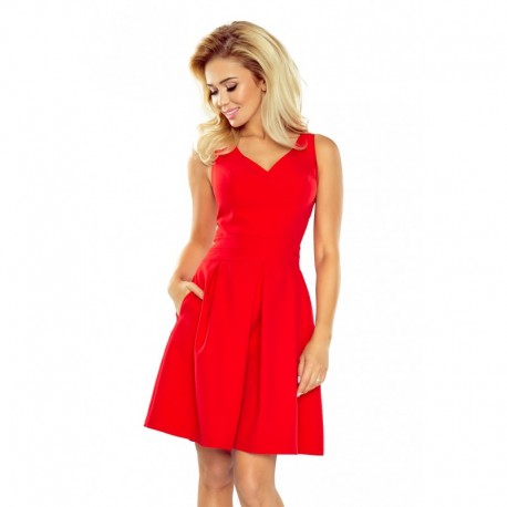 Elegantní dámské šaty bez rukávu červené b5f5da713e
