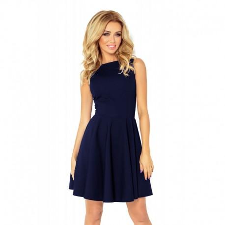 0c9807e42cc Dámské elegantní šaty bez rukávu tmavě modré