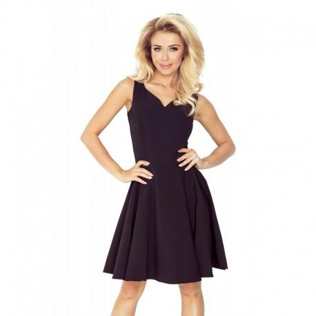 Dámské elegantní společenské a plesové šaty černé, Velikost L, Barva Černá NUMOCO 114-9