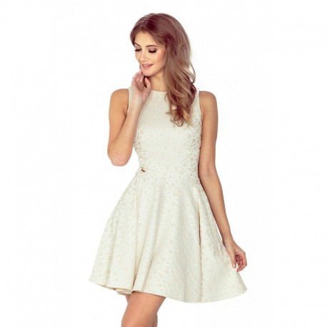 419f68081cb9 Dámské elegantní šaty WHEELS bez rukávu béžové