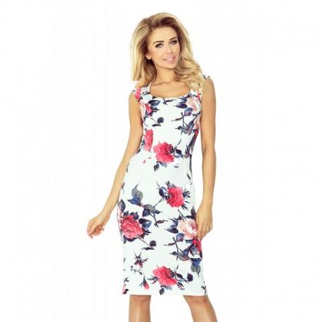 Dámské elegantní šaty SARA bez rukávu květinové