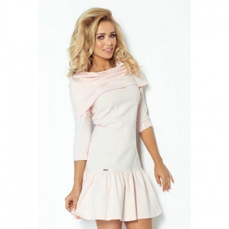 Dámské šaty Mary s límcem světle růžové 53aacd86f6