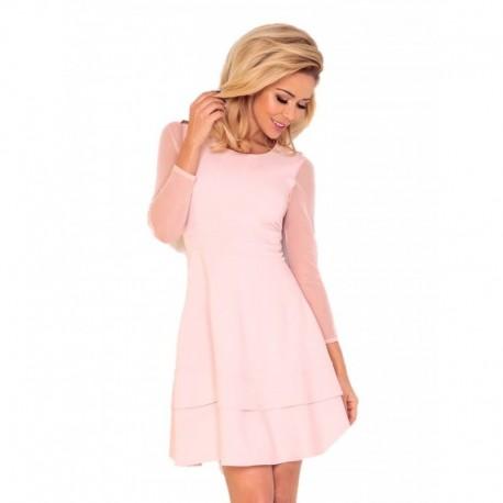 Dámské společenské šaty Jannet , Velikost XL, Barva Pudrová NUMOCO 141-4