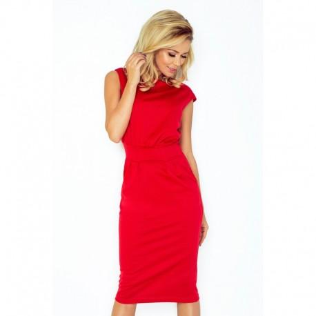 Elegantní šaty bez rukávu Tina červené