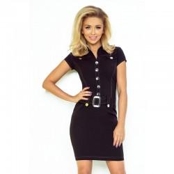 Dámské šaty s knoflíky Lucy černé