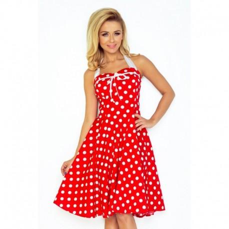 2b150b3bdfd Dámské šaty PIN UP ROCKABILLY červené s bílou