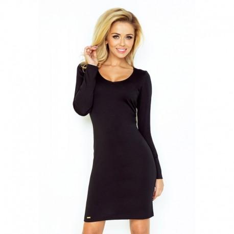 1f220f2ed67 Elegantní šaty s dlouhým rukávem černé ELA