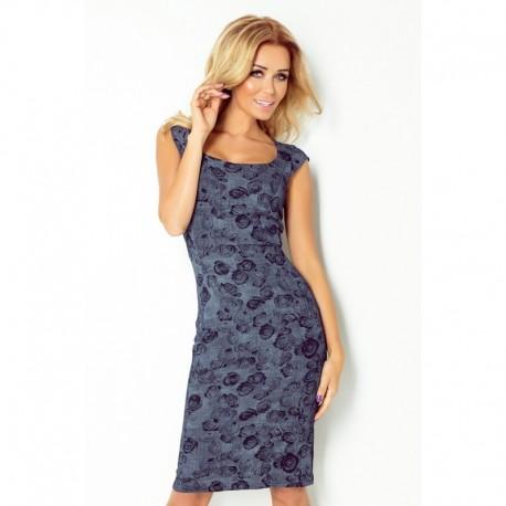 Dámské elegantní společenské šaty bez rukávu tmavě modré Rose a4007eeb2b9