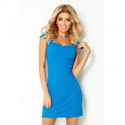 Dámské casual šaty s krátkým rukávem modré