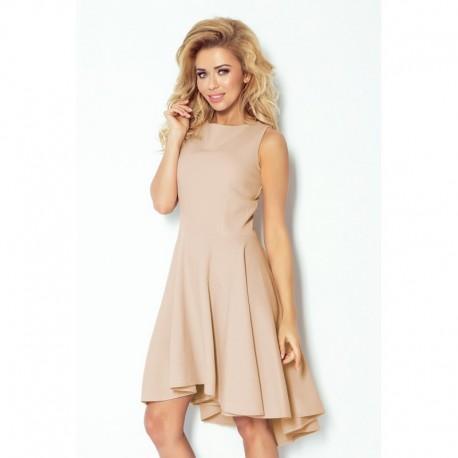 Luxusní dámské společenské a plesové šaty bez rukávu béžové b7740811051