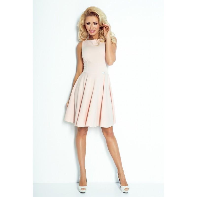 Dámské elegantní šaty pudrové 65709d7739e