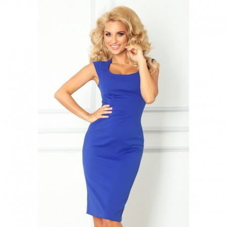 Dámské elegantní společenské šaty bez rukávu modré deac98cc750