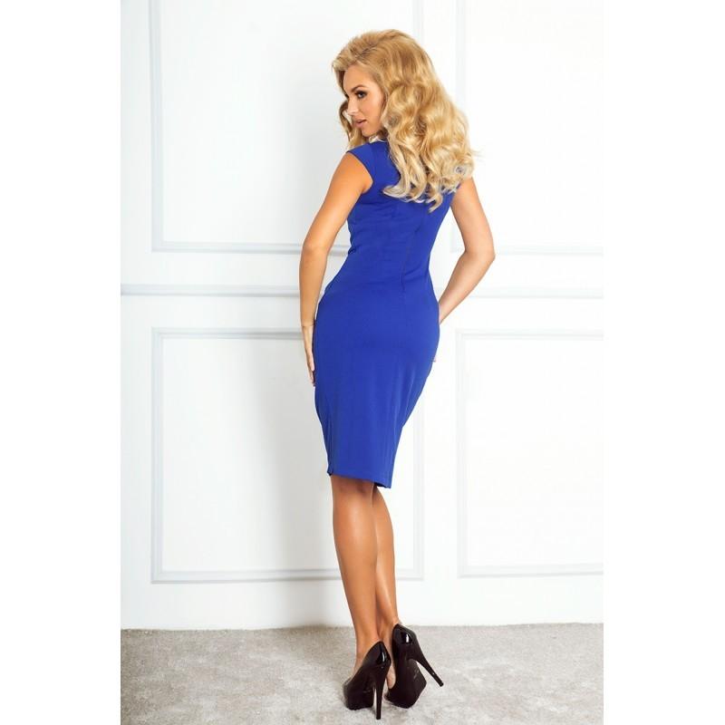 2d100630551d Dámské elegantní společenské šaty bez rukávu modré