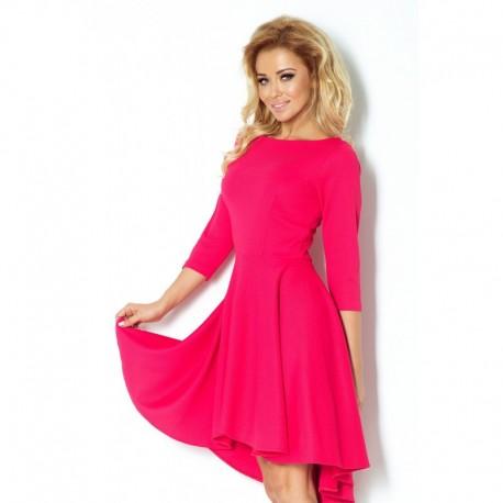 9960c3c42f5 Luxusní dámské společenské a plesové šaty s 3 4 rukávem malinové