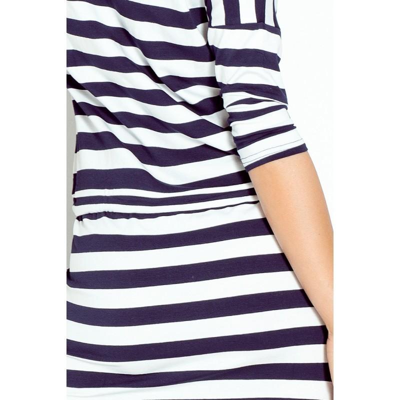 5dc59e3c7a62 Dámské sportovní šaty se zavazovací tkanicí a kapsami modro - bílé