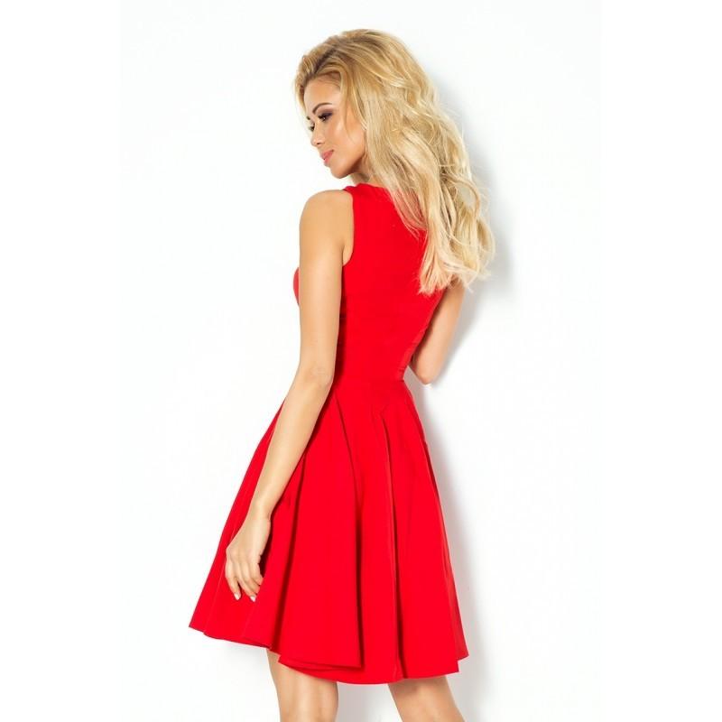 Dámské elegantní společenské a plesové šaty červené 6b69d8669f9