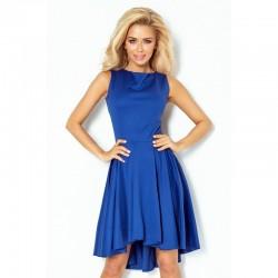 Luxusní dámské společenské a plesové šaty bez rukávu modré