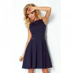 6053bef6268 Dámské elegantní šaty tmavě modré 981