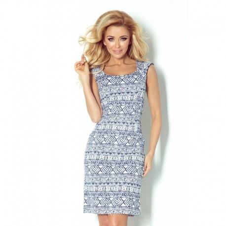 Dámské šaty casual vzorované modro - bílé 0c5098cf70