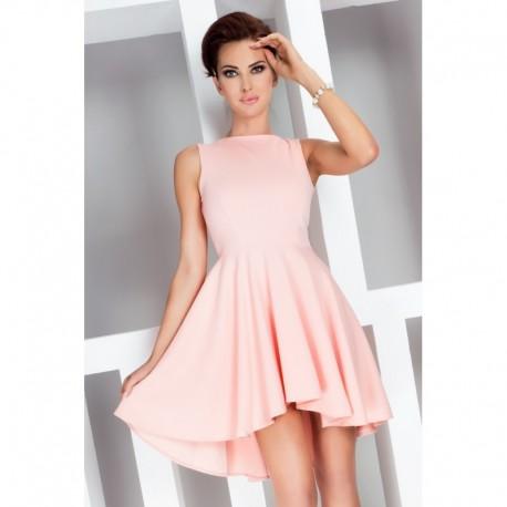 Dámské asymetrické šaty Lacosta - Exclusive bez rukávu broskvové ef4104ae74