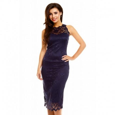 Dámské šaty Paris s krajkou tmavě modré a06d6a3d1c