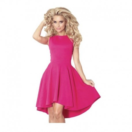Luxusní dámské společenské a plesové šaty bez rukávu malinové 65dda03fd1