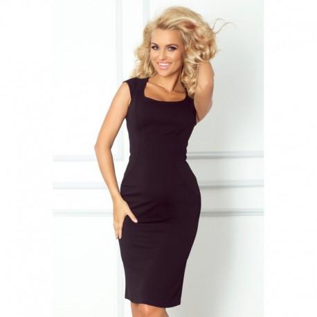bfc67506722 Dámské elegantní společenské šaty bez rukávu černé