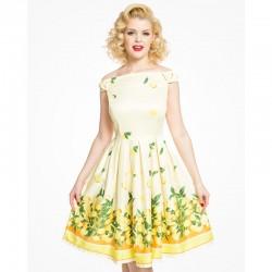 Dámské šaty s puntíky Lindy Bop Juliet
