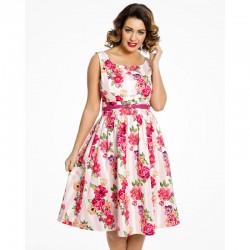 Dámské šaty Lindy Bop Delta Floral Pink