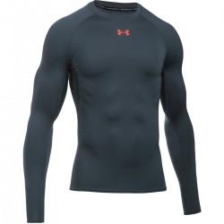 Pánské kompresní tričko Under Armour s dlouhým rukávem tmavě šedé
