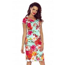 Šaty s květovanými vzory Bergamo