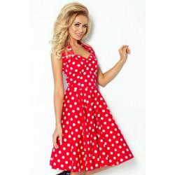 Originální červené šaty ve stylu pin up
