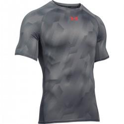 Pánské kompresní tričko Under Armour Printet SS šedé