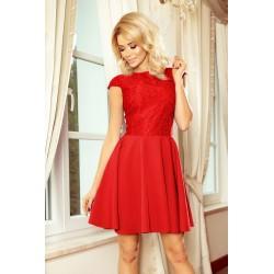 Dámské šaty s krajkou Ellie červené