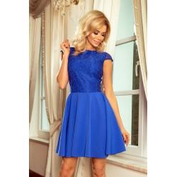 Dámské šaty s krajkou Ellie modré