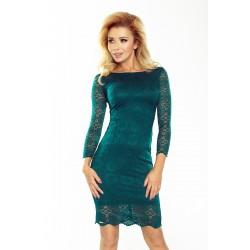 Krajkové šaty Tina smaragdové