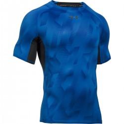 Pánské kompresní tričko Under Armour Printet SS modré