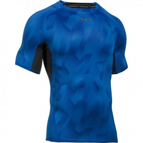 Pánské kompresní tričko Under Armour Printet SS modré c0fd780c9a7