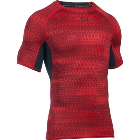 Pánské kompresní tričko Under Armour Printet SS červené, Velikost XXL, Barva Červená Under Armour 1257477-603 190085173819