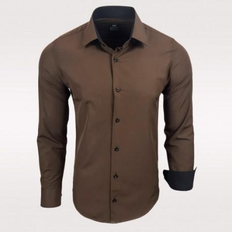 Pánská košile s dlouhým rukávem Rusty Neal hnědá