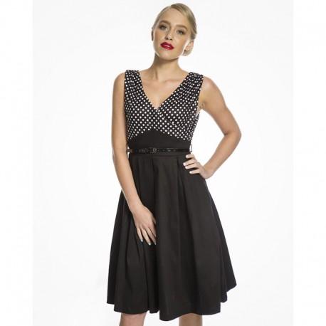 Dámské retro šaty Lindy Bop Valerie, Velikost 40, Barva Černá Lindy Bop 8064