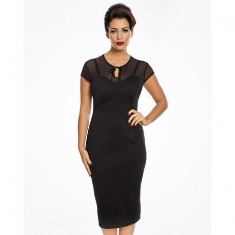 Dámské šaty Lindy Bop Esmerelda, Velikost 42, Barva Černá Lindy Bop 9244