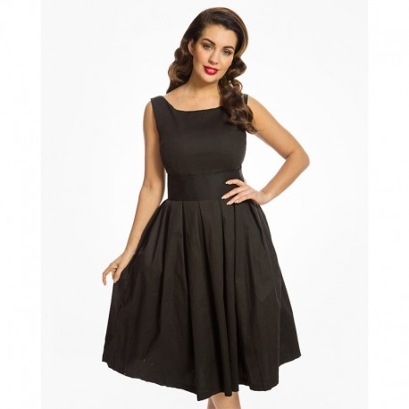 Dámské šaty Lindy Bop Lana, Velikost 42, Barva Černá Lindy Bop 1817